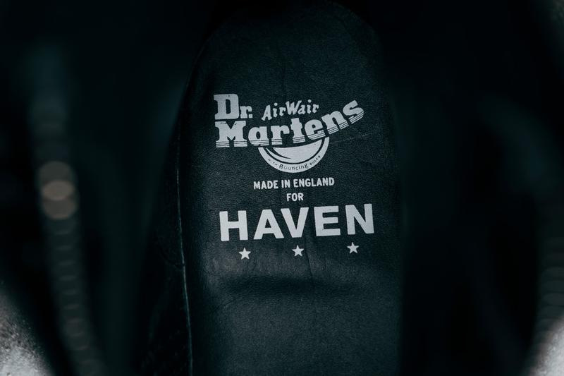 HAVEN Dr. Martens 1460 Jungle Boot Black Ziggy Sole Buck collaboration november 15 8 2019 buy drop colorway info