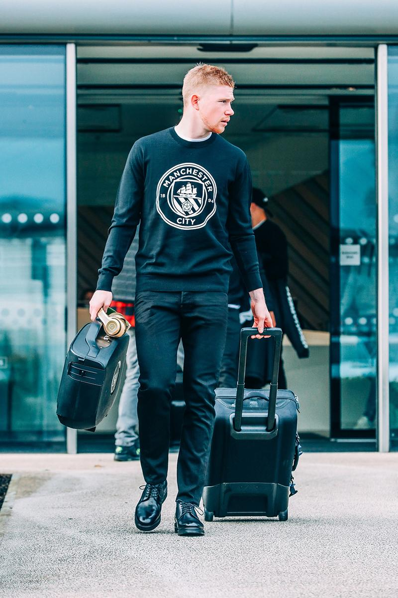 manchester man city dsquared2 pre match uniforms outfit kit release information first look sterling de bruyne aguero buy cop purchase