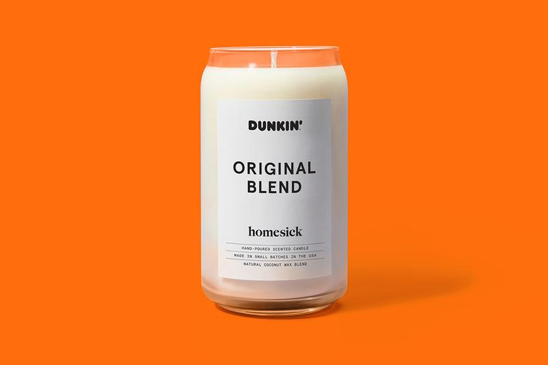 Dunkin' Donuts x Homesick Candle Range Donut Scent Peppermint Mocha Original Blend Coffee Old Fashioned Glazed American US Smells Homeware Natural Coconut Wax Presents Winter Fall Christmas Thanks Giving Season