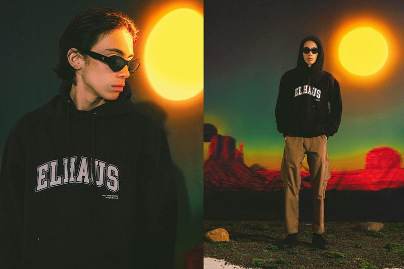 Elhaus Fall/Winter 2019 Lookbook Collection Long Sleeves T-shirts Shirts Jackets Utility Vagabond Pants Hats Cowboys Indians Stripes Hoodies Green Black Blue Brown Pink White