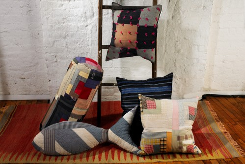 Emily Bode Lends Antiqued Touch to Patchwork Pillow Collection