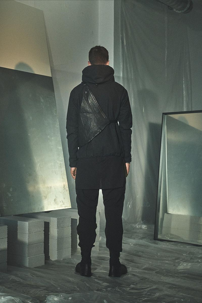 Enfin Levé Collection XIV Lookbook outerwear techwear Schoeller Dryskin with merino backing or kangaroo leather Thinsulate® or Polartec® Alpha® technical apparel pants trousers