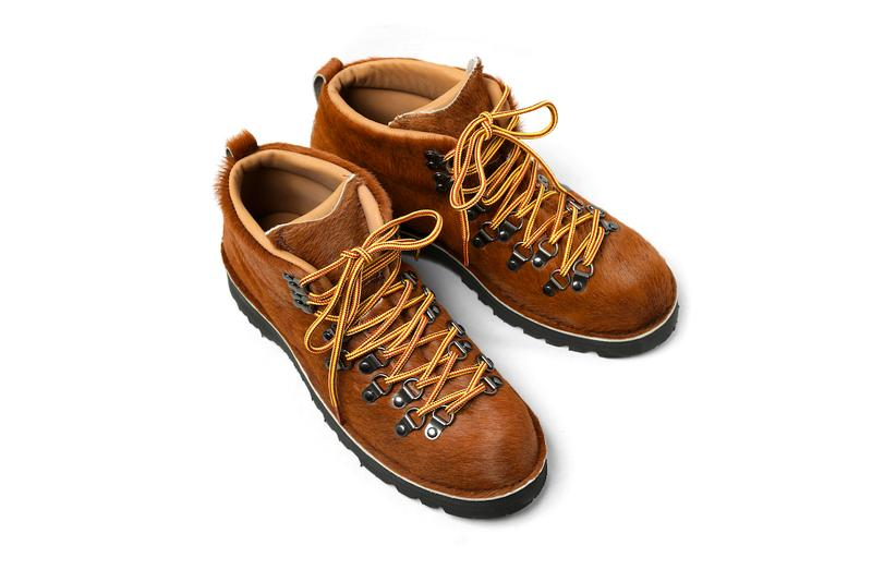 Engineered Garments Danner Mountain Trail Boots fall winter 2019 collection leopard black brown colorways hiking trek furry faux fur rugged footwear shoes trainers daiki suzuki