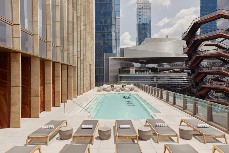 Equinox First Hotel Hudson Yards New York Coco-Mat Rockwell Group David Rockwell Joyce Wang Studio Jaume Plensa Sculpture Thomas Heatherwick Vessel