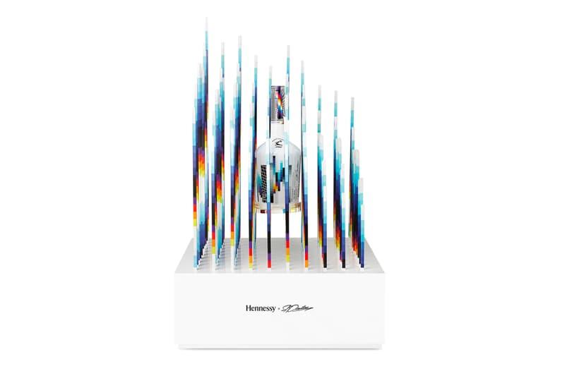 Felipe Pantone x Hennessy Collector's Edition Bottle Release sculptures