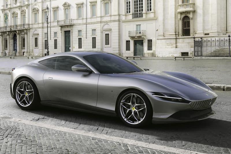 ferrari roma rome italy italian engineering supercar racing luxury prancing horse