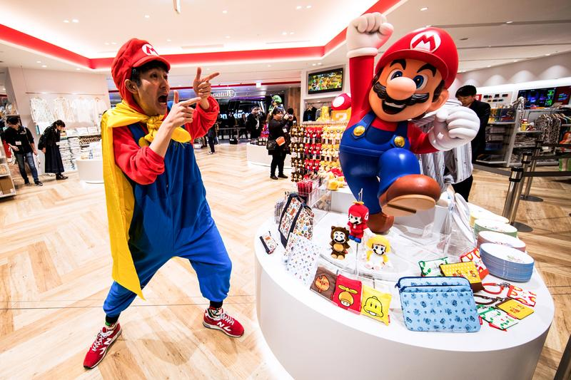 First Look Nintendo Official Store in Japan Super Mario Bros. The Legend of Zelda Pokémon