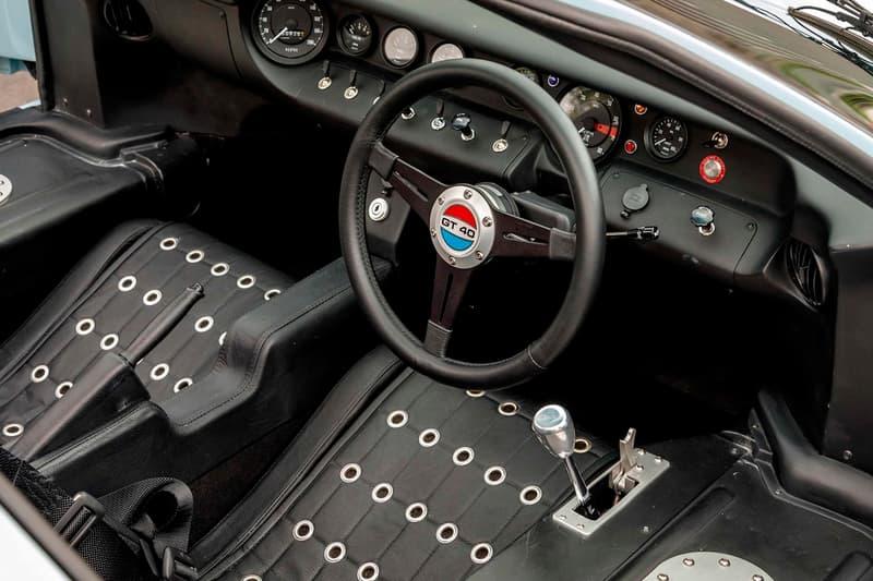 'Ford v. Ferrari' Ford GT40 MKII Replica Auction Sale 1966 Superperformance Le Mans Matt Damon Christian Bale Gulf Blue livery Roush V8