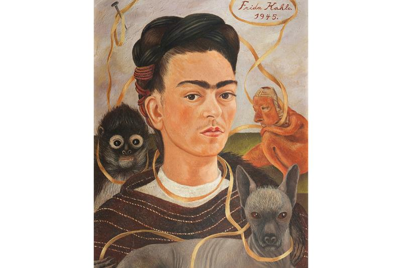 Frida Kahlo Photographs Painting Monkey Self-Portrait Mexican Artist