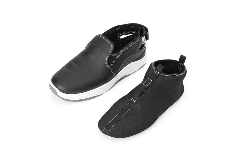 Fumito Ganryu Suicoke Back Strap Slip On  collaborations footwear sneakers sandals trainers runners commes des garcons technical sporty shoes sockliner brown black white