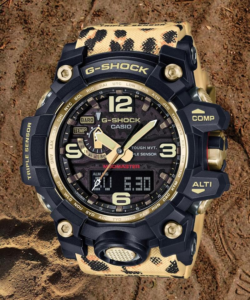 g shock wildlife promising leopard print mudmaster gg-1000 release information buy cop purchase non profit charity watch model price