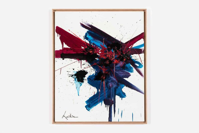 Georges Mathieu Exhibition Perrotin Hong Kong Paintings Lyrical Abstraction Red Blue Purple Yellow Black