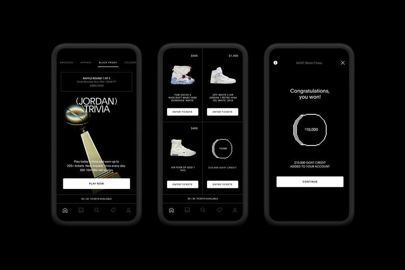 GOAT 2019 Black Friday Event Apple iPhone App Sneakers
