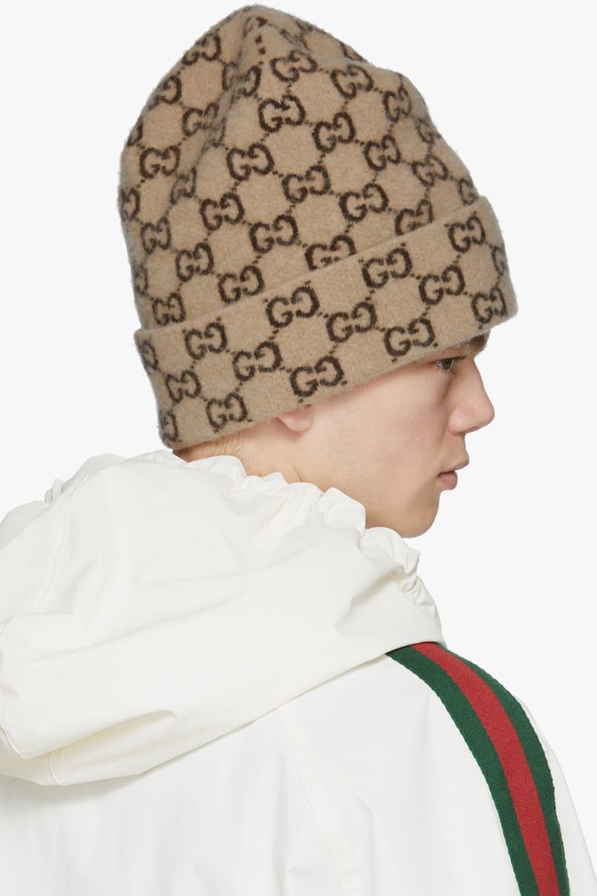 2019 Winter GG Knit Cap Wool Hat Black
