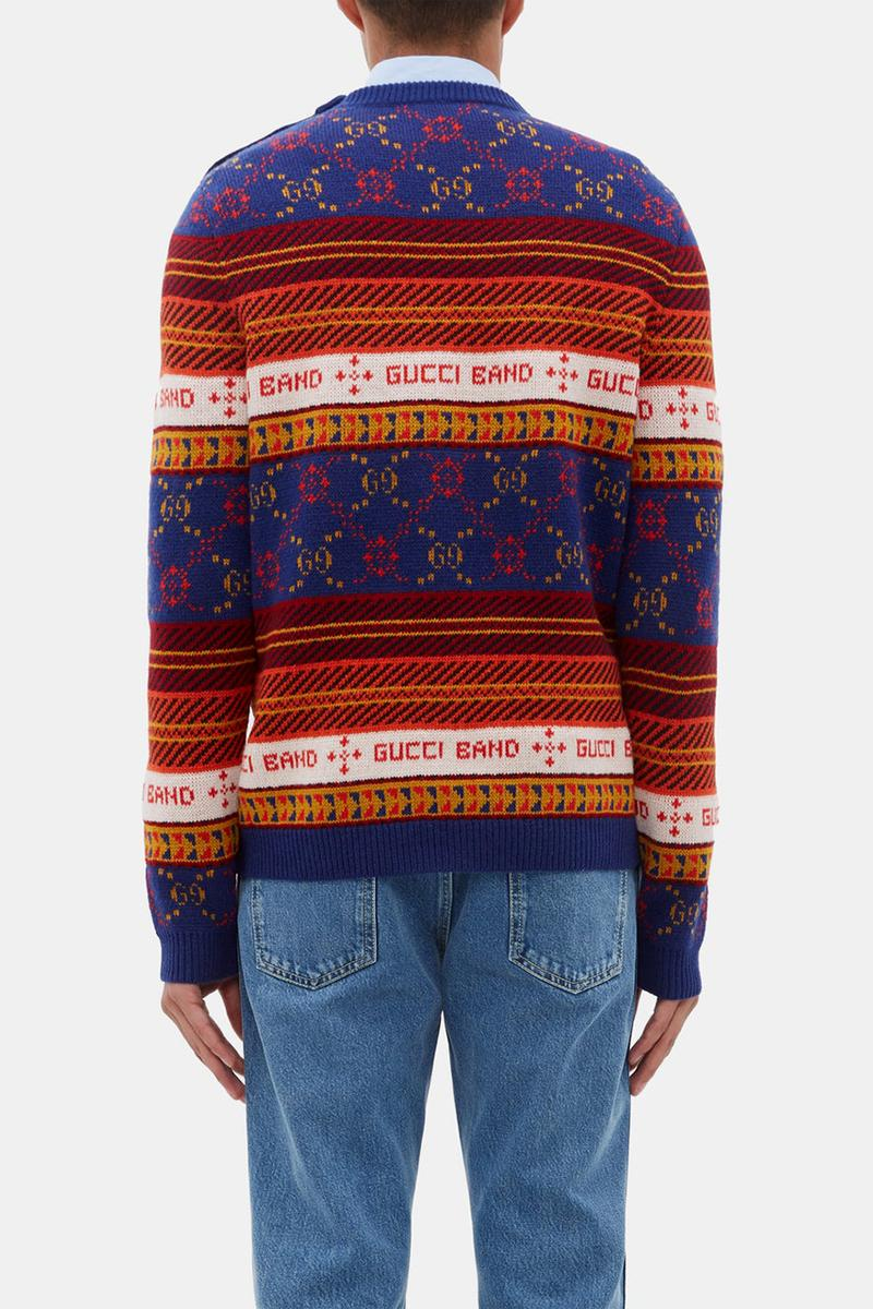 Gucci GG-Jacquard Wool Sweater Christmas Jumper Xmas Gift Clothing Christmassy Fall Winter 2019 FW19 Alessandro Michele MATCHESFASHION.COM Bang Slogan Logo Knitwear