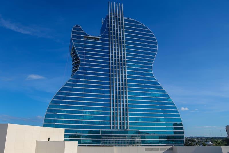 Hard Rock Hotel Opens Guitar-Shaped Resort News skyscrapers buildings resorts Florida