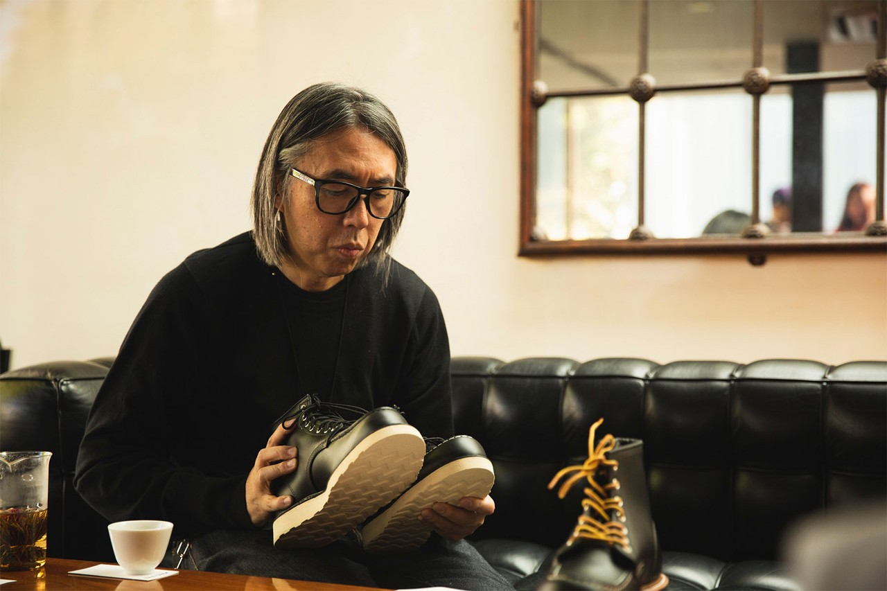 Hiroshi Fujiwara fragment design Interview Red Wing, John Smedley collaboration feature reveal boot irish setter crewneck shirt japan