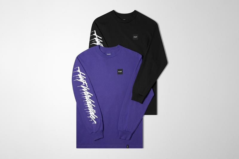 """It's A Living x HUF Capsule Collection Release Ricardo González Graffiti Downhill Tie Dye Tee Hoodie Long Sleeves Hats Skate Decks """"Down Hill From Here"""" Pink Purple Green Orange White Black"""
