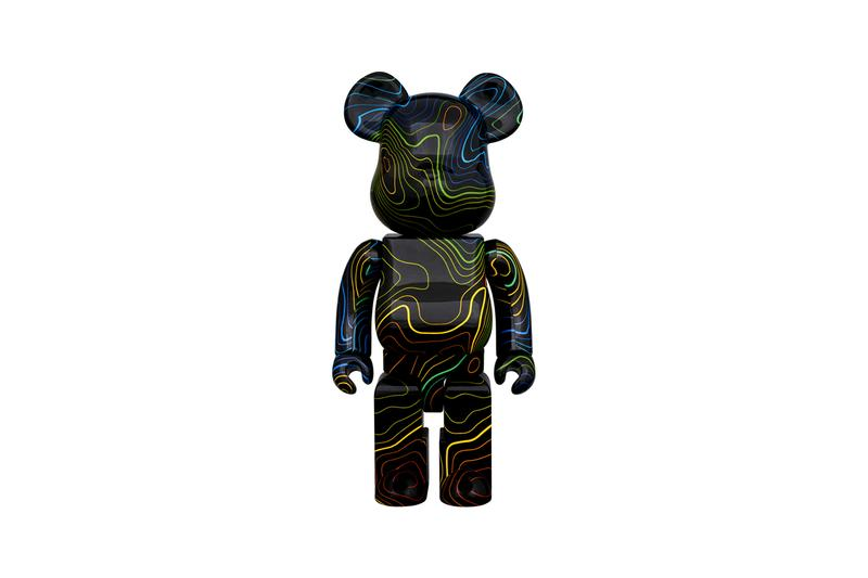 HYPEBEAST Medicom Toy BEARBRICK Capsule topographical cartography 1000 400 100 14 years editorial platform Fabrick slippers cushion flat two way pouch map collectible figure toy Release Info Buy