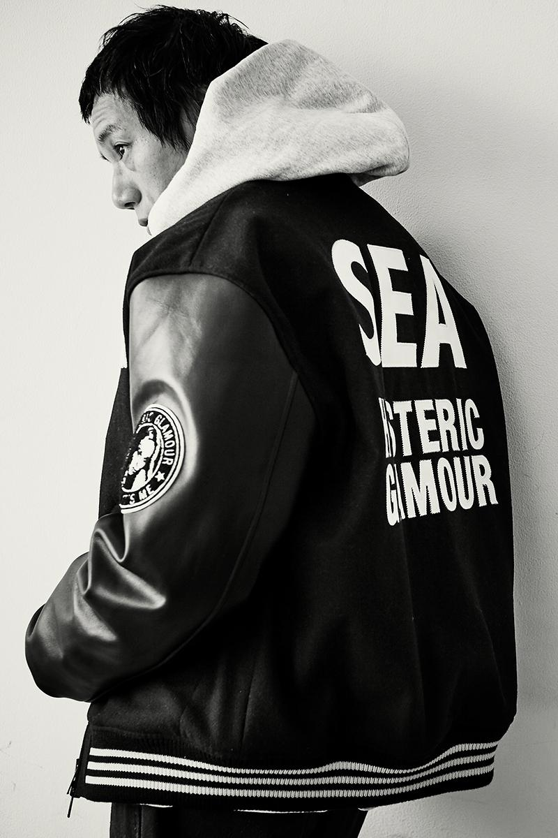 HYSTERIC GLAMOUR WIND AND SEA 2019 Capsule collection t shirt tee stadium jacket hoodie hats socks Takashi Kumagai photographer nakameguro japanese made in japan
