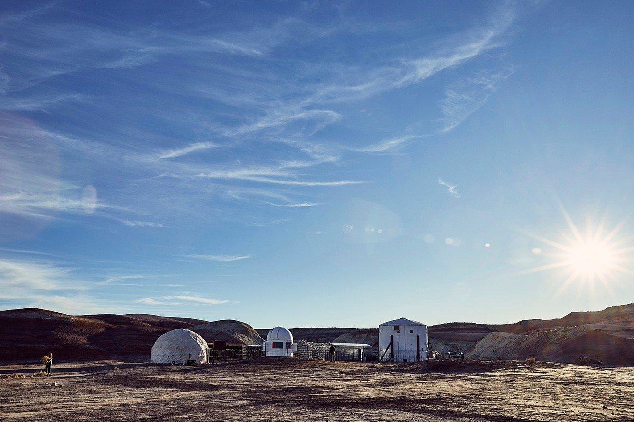 IKEA Redesigns Mars Desert Research Station Living Pod planet space exploration urban living storage solutions stacking chairs communal living furniture lighting