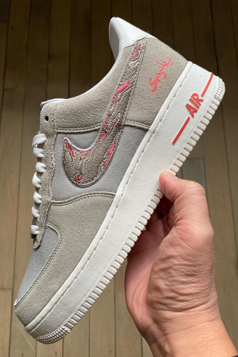 jeff staple sbtg mr sabotage nike air force 1 low pigeon grey pink white release date info photos price jeffstaple design