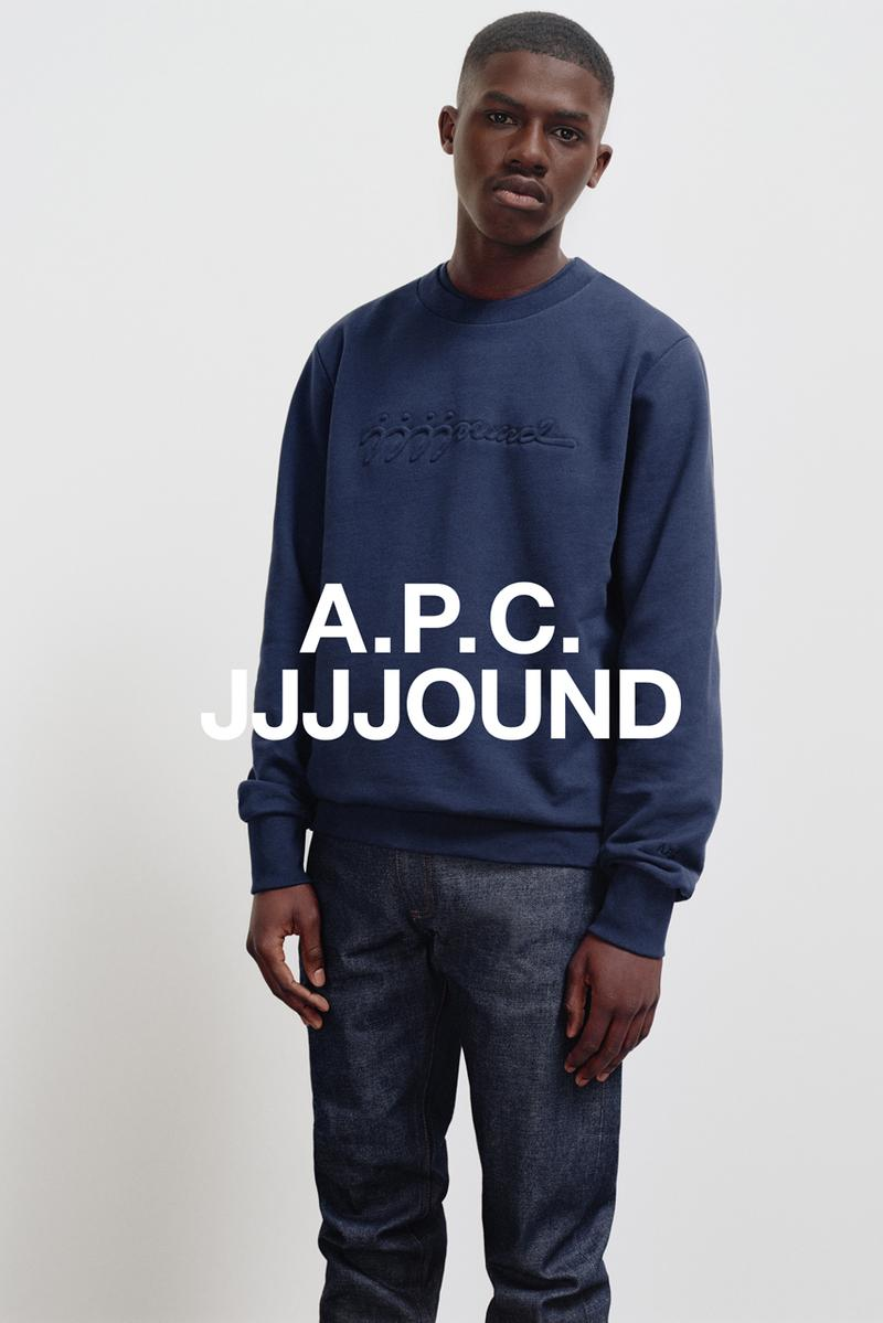 JJJJOUND x A.P.C. Capsule Collaboration Campaign release date info buy november 14 2019 drop jeans petit standard sweater hoodie sweatpants tote candle interaction Petit Standard