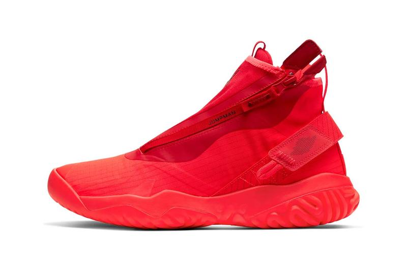 jordan proto react z sneakers zipper triple red bright dark red university red team red colorway release