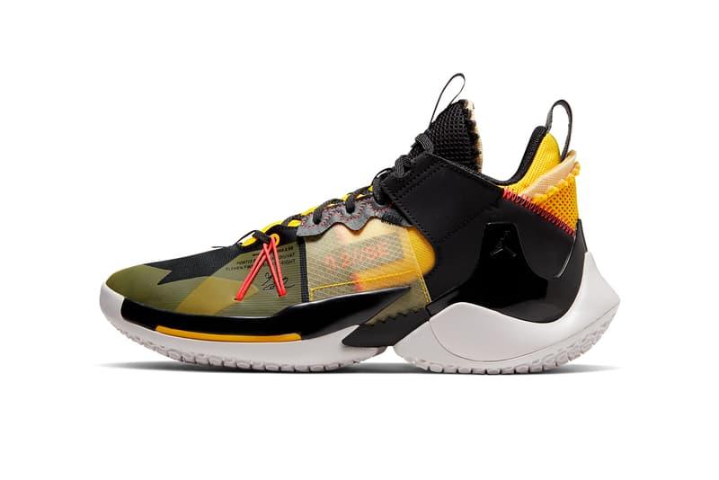 jordan why not zer0 2 se birthday russell westbrook black amarillo vast grey flash crimson AQ3562 002 release date info photos price