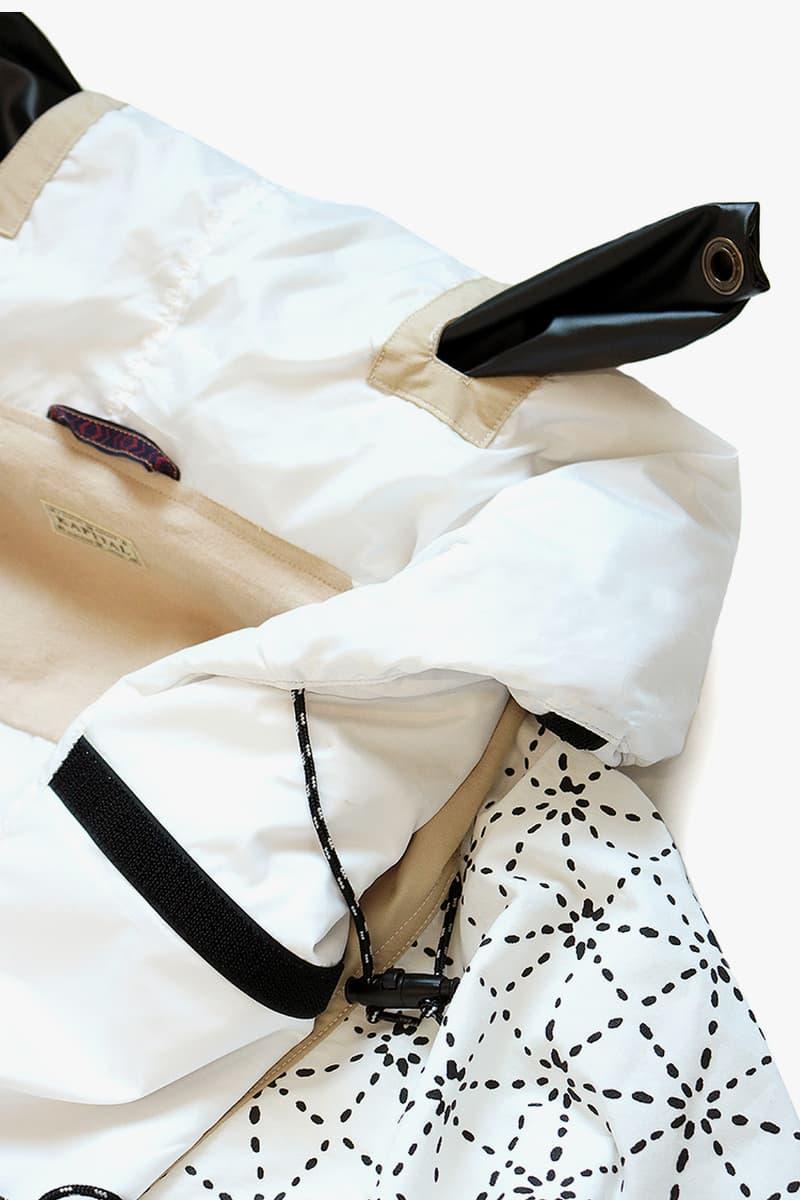 KAPITAL Modular 60 40 Cross KAMAKURA Anorak jacket detachable daredevil shashiko embroidery bib padded packable insulated outerwear kountry remake