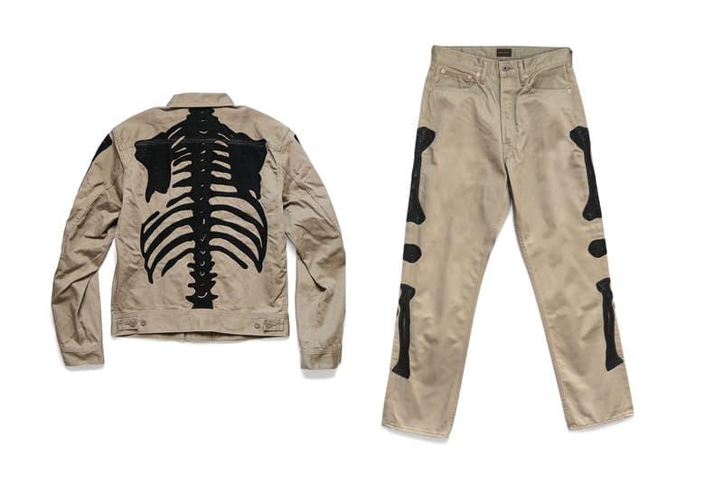 KAPITAL Western Satin Mexican Tuxedo Jacket Release embroidery jacket pants skeleton Kountry