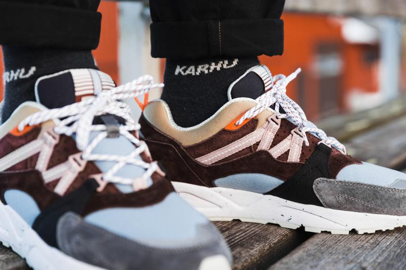 "Karhu Fusion 2.0 ""Kitee"" Pack fall winter 2019 skiing Finland sneakers lookbooks kanye west ""Chocolate Torte/Shadow Gray"" and ""Chocolate Torte/Blue Fog"""