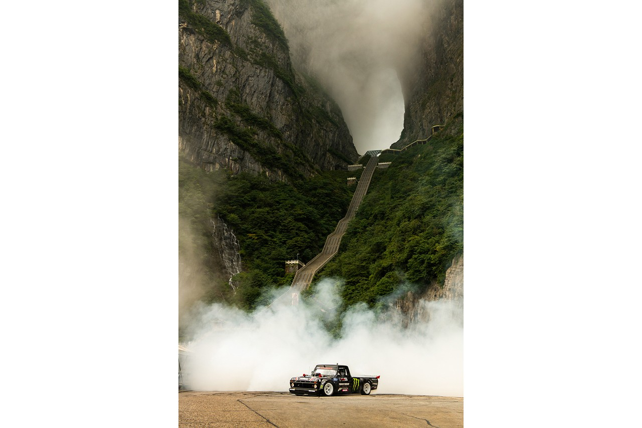 Ken Block 'Climbkhana TWO: Tianmen Mountain' Video stream ford f-150 truck china dangerous drift mountain drive gym watch hoonitruck 914