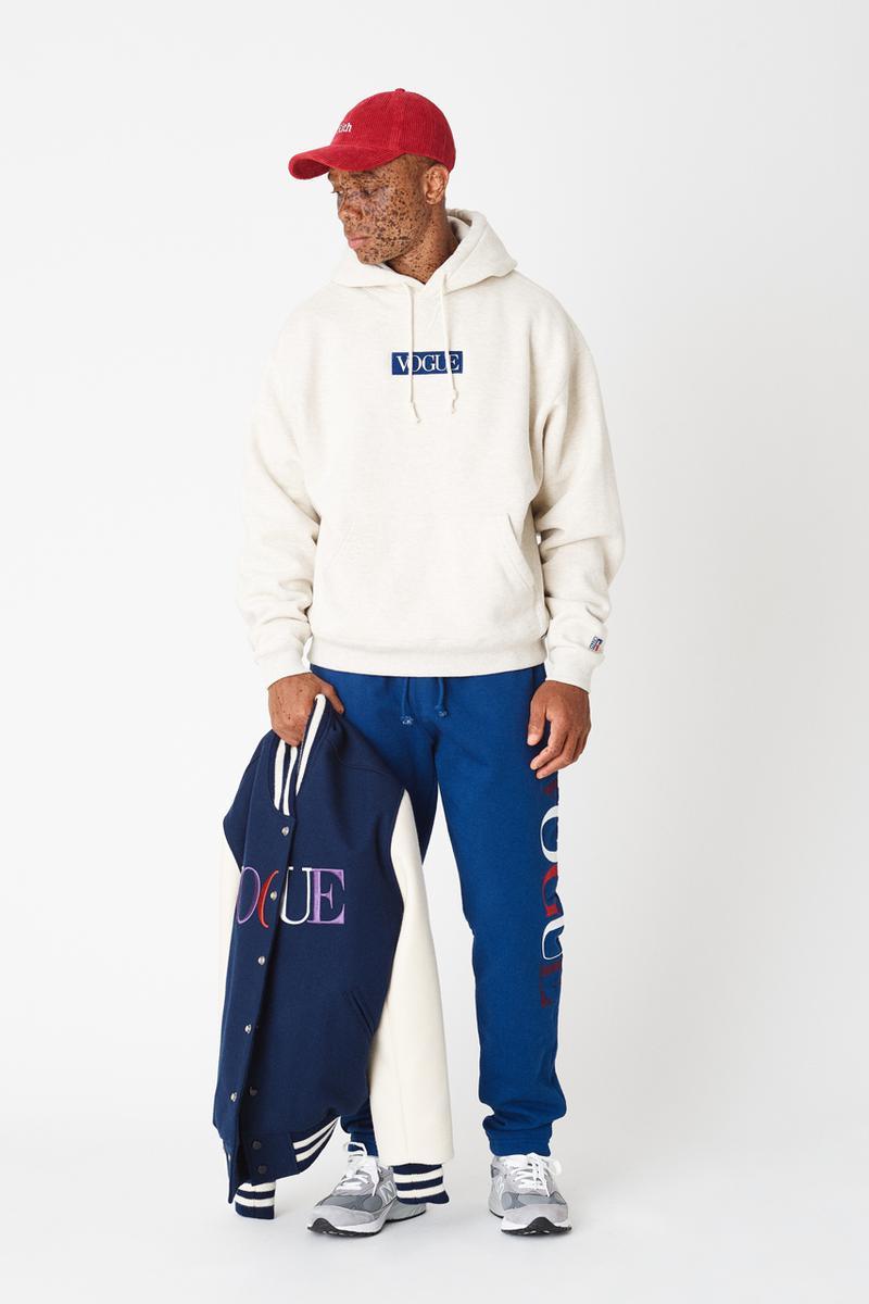 kith vogue russell athletic love thy city collaboration collection release collegiate varsity jacket brooklyn miami soho los angeles flagship stores hoodies crewnecks sweatpants tshirts