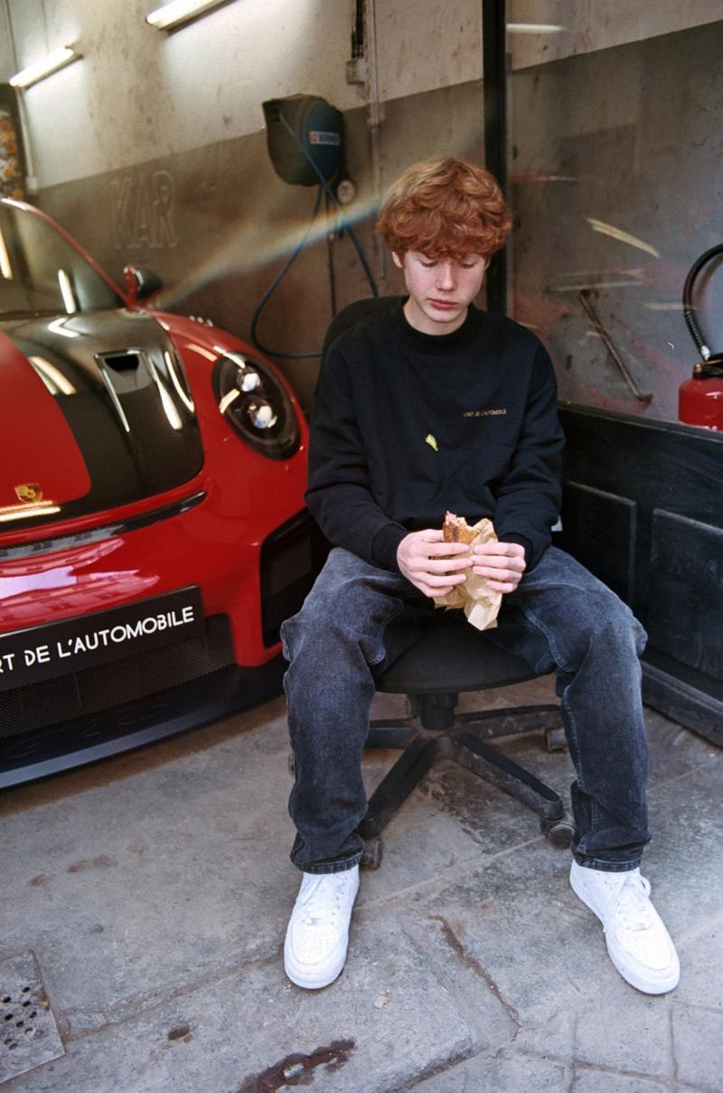 L'Art de l'Automobile Reversible Crewneck Drop Pricing Dover Street Market Arthur Kar