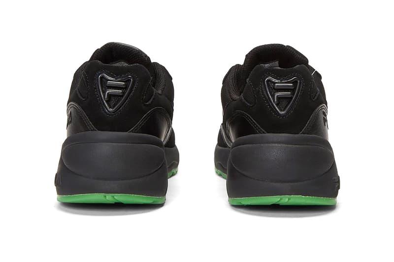 LN-CC x FILA V94M & Creator Sneaker Release Information Cop Online Footwear Collaboration Fall Winter 2019 FW19 Black Shoes Unisex Kicks Chunky Old School OG Style Triple-Black Green Sole Unit