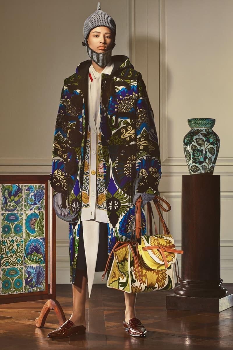 LOEWE De Morgan Capsule Collection Release Info William De Morgan Textiles Dresses Sweaters Hats Knits Hoodies Caps Sweaters Dresses Dodo Hoopoe Birds Flowers