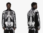 "LOEWE Drops Fringed ""William De Morgan"" Skeleton Turtleneck"