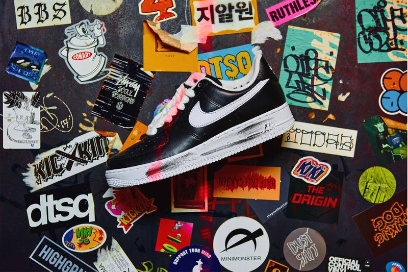 G-Dragon PEACEMINUSONE Nike Air Force 1 Para Noise Look Under Release Info Date Buy