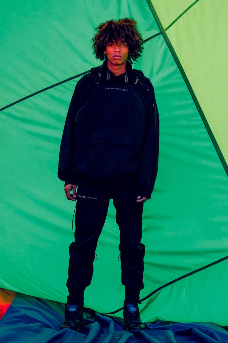 "New Louis Vuitton ""2054"" Collection Lookbook Virgil Abloh techwear clothing jackets outerwear"