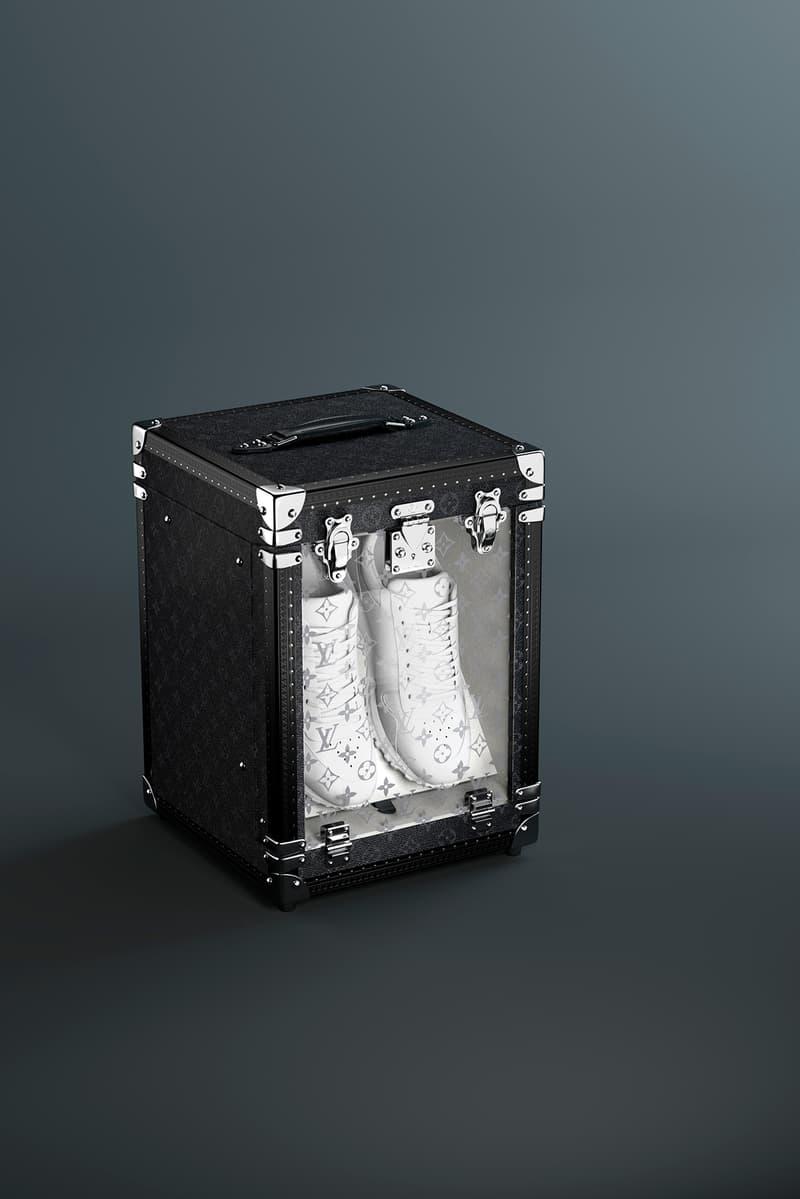 Louis Vuitton Black Single Sneaker Box Trunk Release Info Onyx Display Presentation