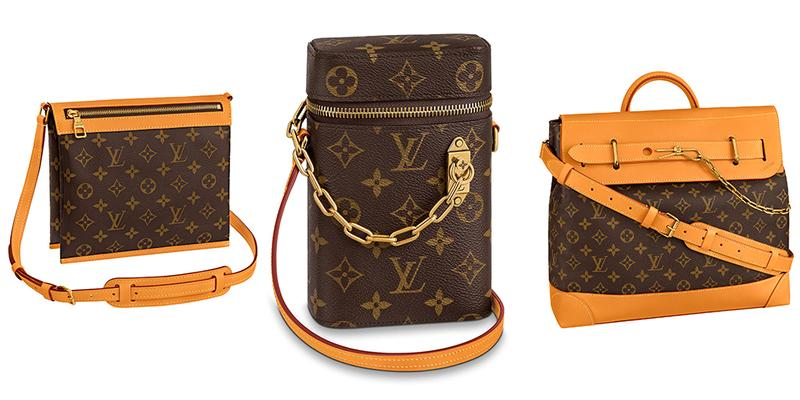 """Louis Vuitton Pre-Spring/Summer 2020 """"Monogram Legacy"""" Collection Virgil Abloh Design Accessories First Look Leather Goods Milk Box Phone Box Saumur Messenger Cabas Voyage Steamer PM Gold Chains Links"""