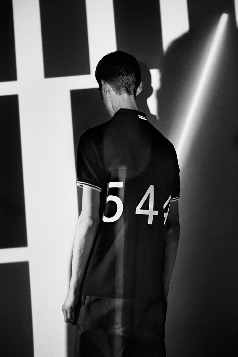 Made Thought x Fred Perry 5-4-4-Inspired Capsule Collection Football History Heritage Classic Design Polo Shirt Formation Graphic London Creative Studio Twin Tipping