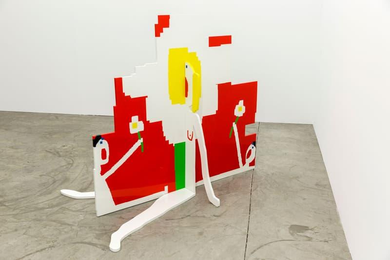 "Maja Djordjevic Dio Horia Exhibition Info ""I Am Always a Different Person"" Paintings Sculptures Oil Enamel Computer Doodles Pixelation"
