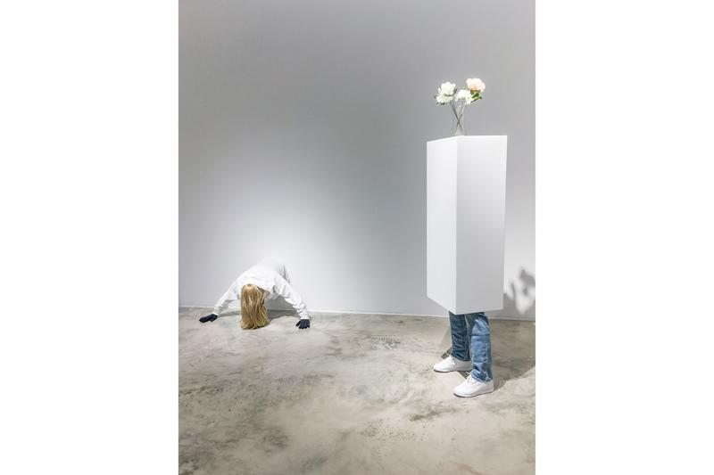 "Mark Jenkins ""From From Here to Nowhere"" Exhibit Fabien Castanier Gallery Miami Sculptures Figures Hooded"