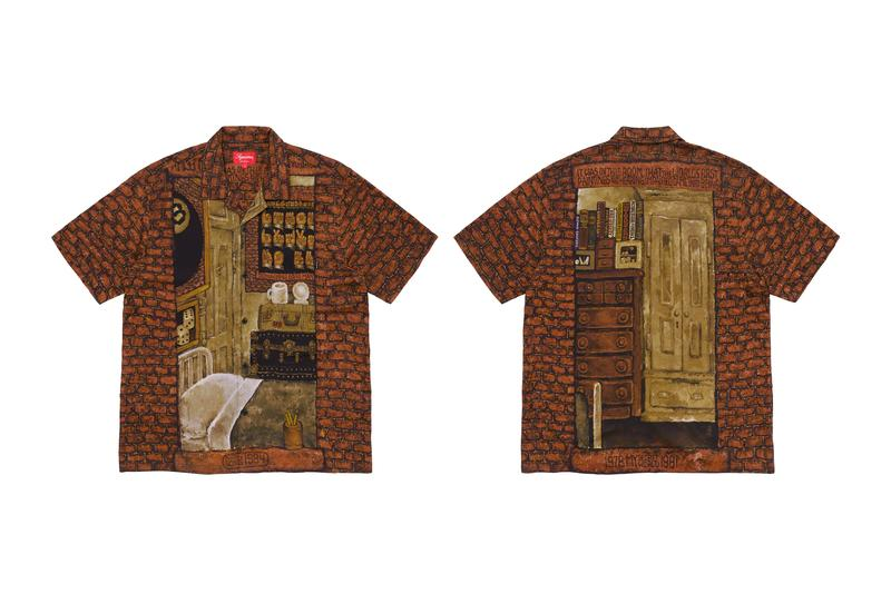 Martin Wong x Supreme FW19 Collection New York Artists Barry Blinderman Miguel Piñero Daze Paintings hoodies shirts rayon