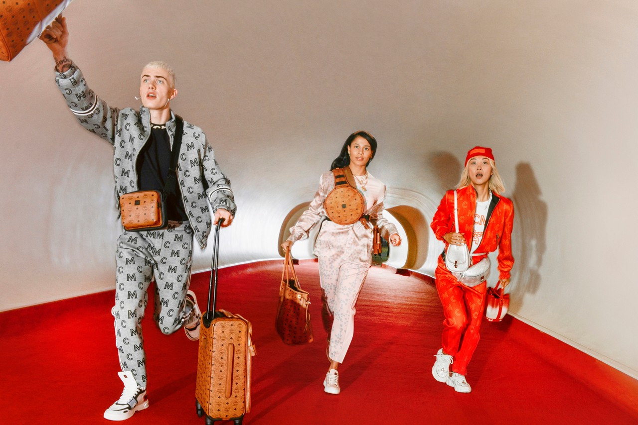 MCM Spring/Summer 2020 Collection Festive Campaign imagery lookbook fw19 leather goods accessories handbags clothing apparel