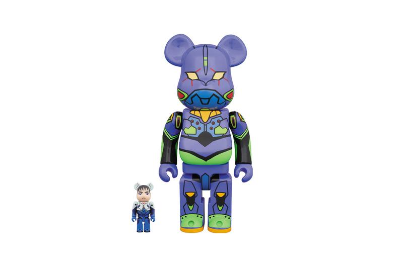 Medicom Toy BEARBRICK Neon Genesis Evangelion 100 400 EVA unit 01 shinji ikari anime tv series animation japanese television cartoon robots sci fi dystopian  mecha anime television series Gainax Tatsunoko Hideaki Anno mecha