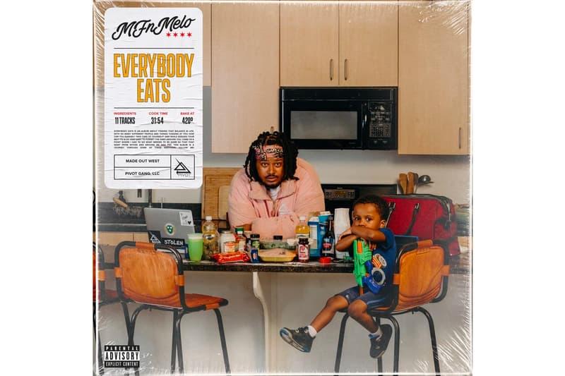 MFnMelo Everybody Eats Album Stream Pivot Gang FrshWaters Saba Qari Mick Jenkins