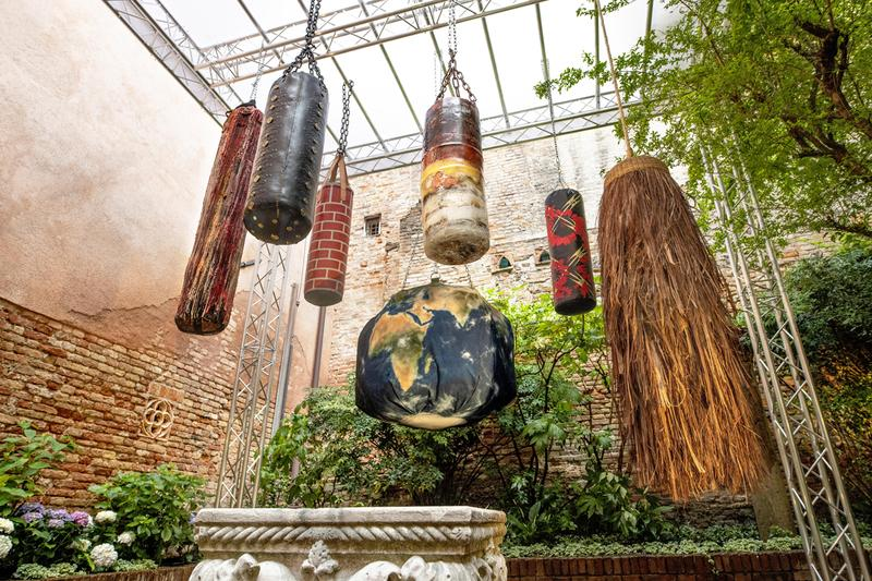 Michèle Lamy Sotheby's Online Charity Auction Punching Bags BXR London Carpenters Workshop Gallery